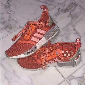 Orange/Salmon colored Adidas NMD